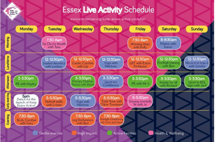 Keep Essex Active YouTube